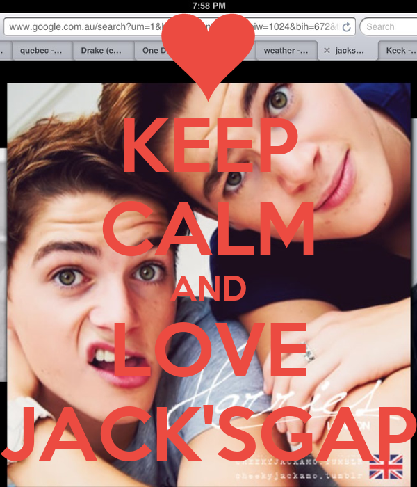 KEEP CALM AND LOVE JACK'SGAP