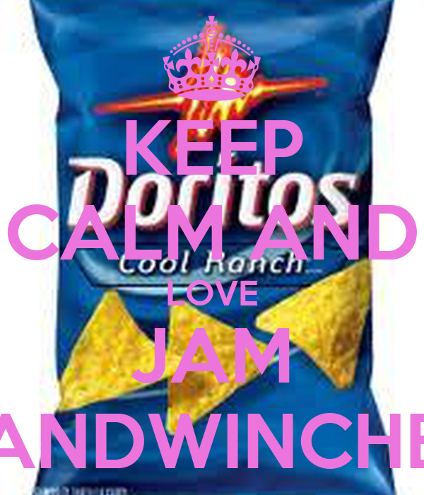 KEEP CALM AND LOVE JAM SANDWINCHES