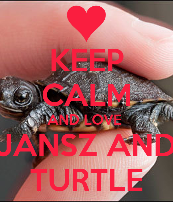 KEEP CALM AND LOVE  JANSZ AND TURTLE