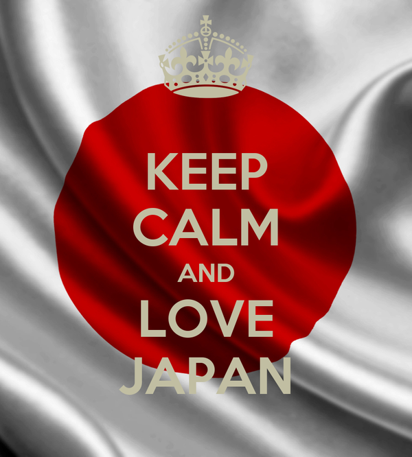 KEEP CALM AND LOVE JAPAN