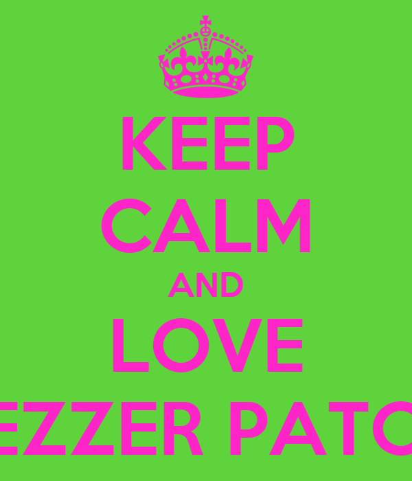 KEEP CALM AND LOVE JEZZER PATCH