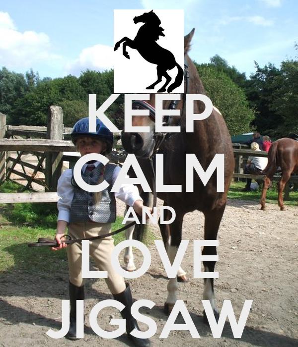 KEEP CALM AND LOVE JIGSAW