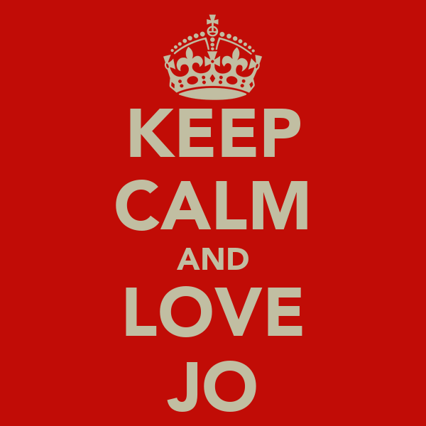 keep calm and love jo poster keep calm and love jo keep calm o matic. Black Bedroom Furniture Sets. Home Design Ideas