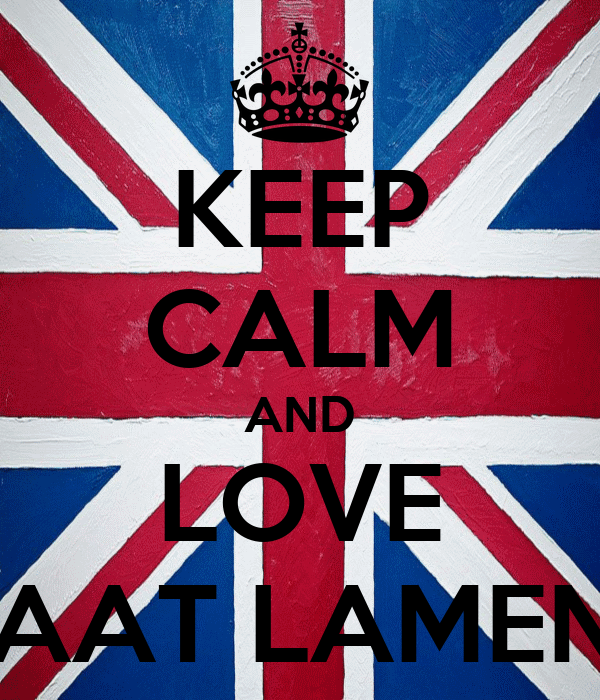 KEEP CALM AND LOVE KAAT LAMENS
