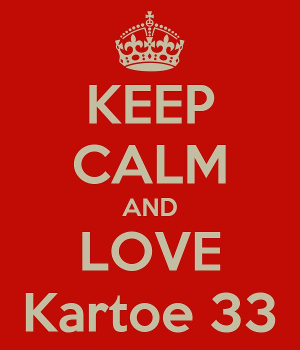 KEEP CALM AND LOVE Kartoe 33