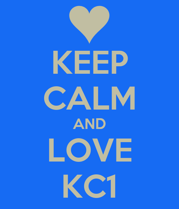 KEEP CALM AND LOVE KC1