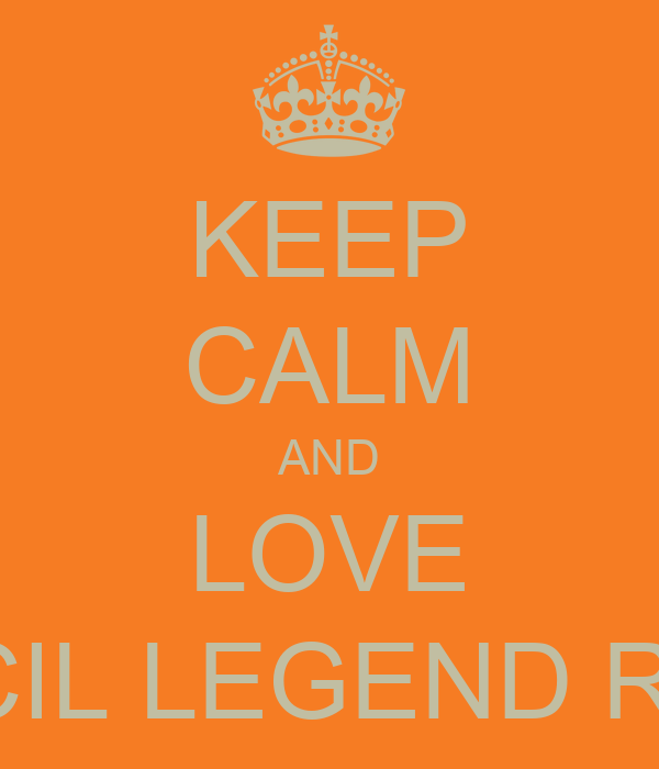 KEEP CALM AND LOVE KIMCIL LEGEND ROVY
