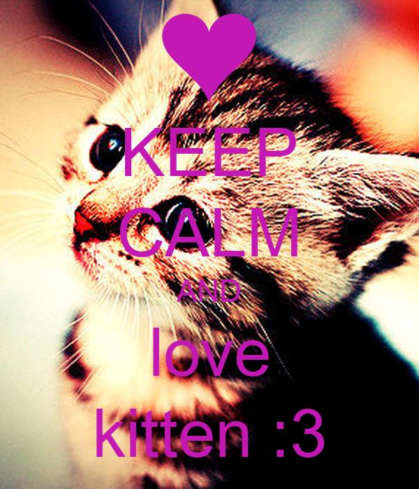 KEEP CALM AND love kitten :3