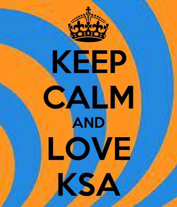 KEEP CALM AND LOVE KSA