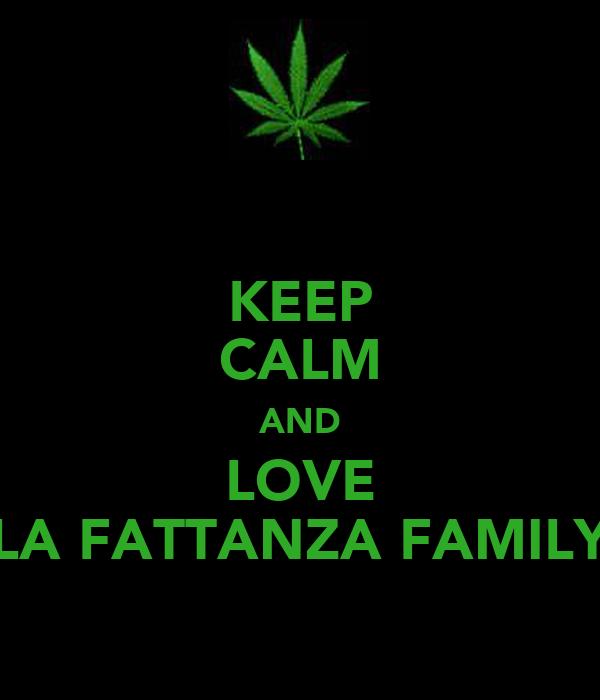 KEEP CALM AND LOVE LA FATTANZA FAMILY