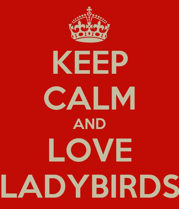KEEP CALM AND LOVE LADYBIRDS
