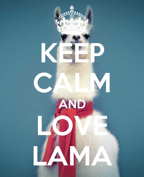KEEP CALM AND LOVE LAMA