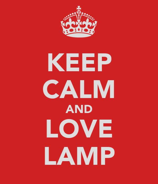 KEEP CALM AND LOVE LAMP