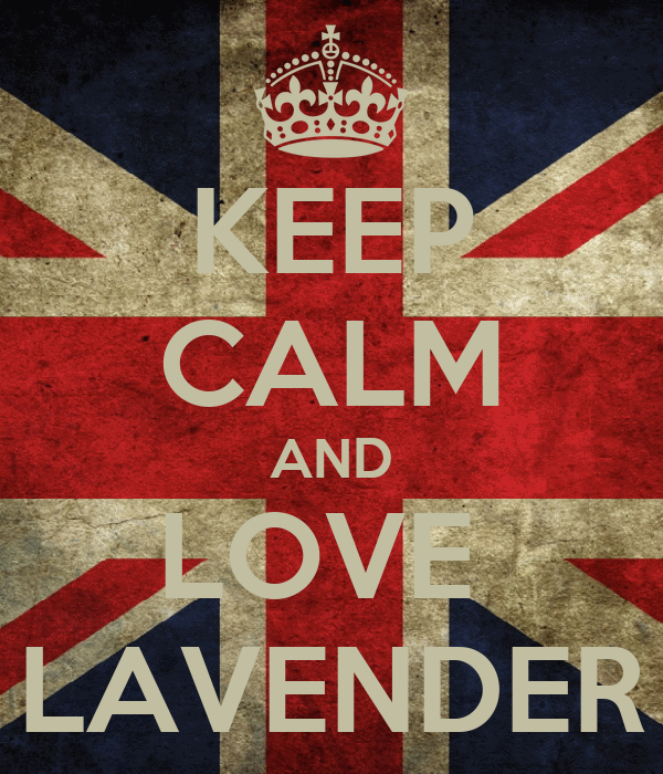 KEEP CALM AND LOVE  LAVENDER