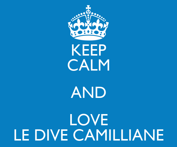 KEEP CALM AND LOVE LE DIVE CAMILLIANE