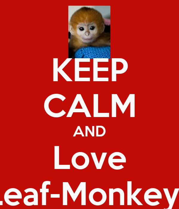 KEEP CALM AND Love Leaf-Monkeys