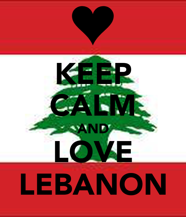 KEEP CALM AND LOVE LEBANON
