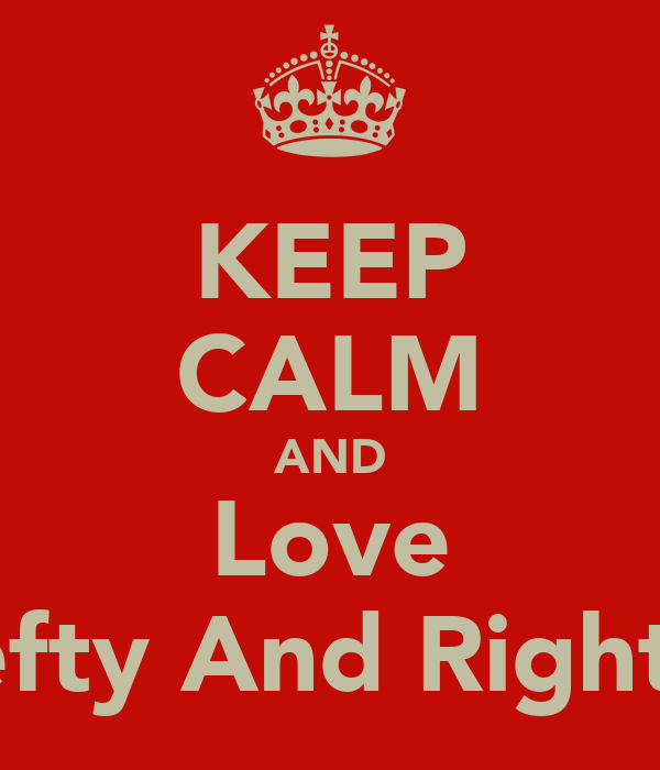 KEEP CALM AND Love Lefty And Righty
