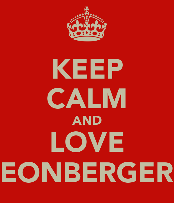 KEEP CALM AND LOVE LEONBERGERS