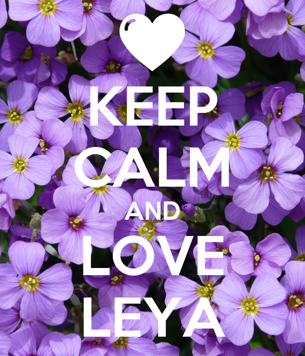 KEEP CALM AND LOVE LEYA