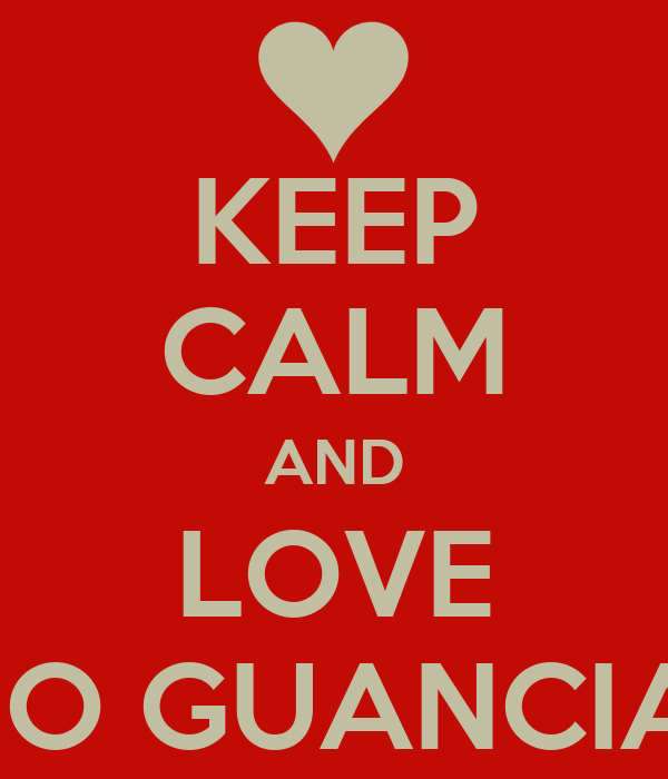 KEEP CALM AND LOVE LINO GUANCIALE
