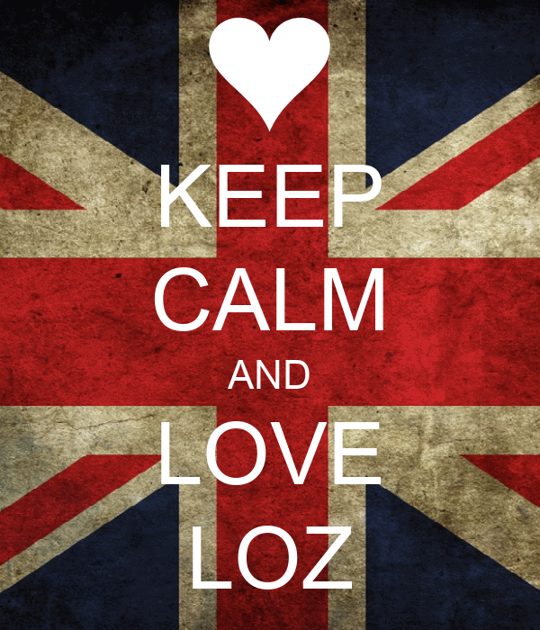 KEEP CALM AND LOVE LOZ