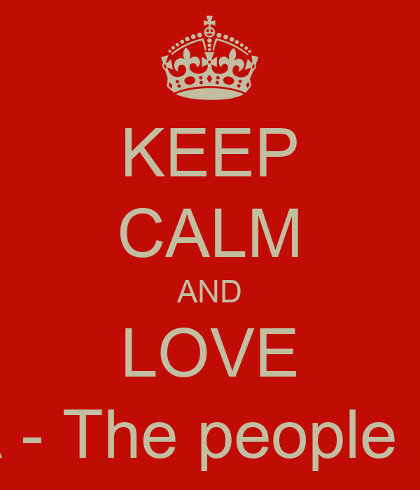 KEEP CALM AND LOVE LUGERA - The people Republic!
