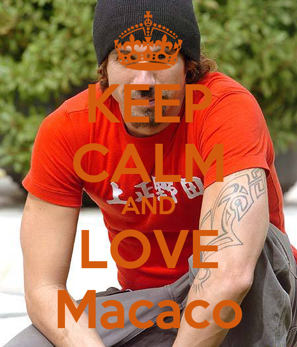 KEEP CALM AND LOVE Macaco