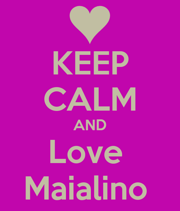 KEEP CALM AND Love  Maialino