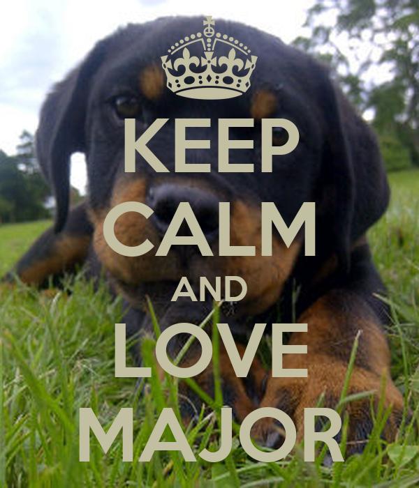 KEEP CALM AND LOVE MAJOR
