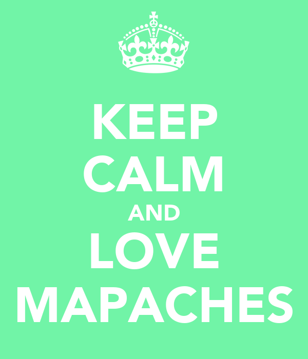 KEEP CALM AND LOVE MAPACHES