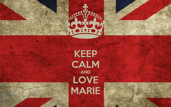 KEEP CALM AND LOVE MARIE