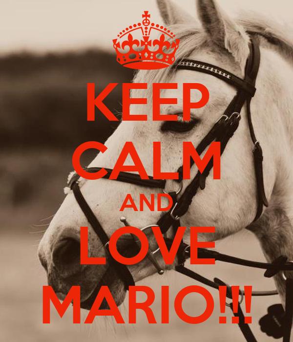 KEEP CALM AND LOVE MARIO!!!