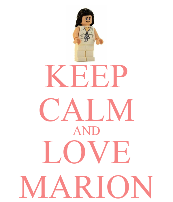 KEEP CALM AND LOVE MARION