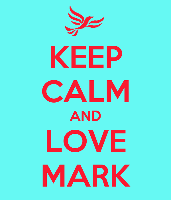 KEEP CALM AND LOVE MARK