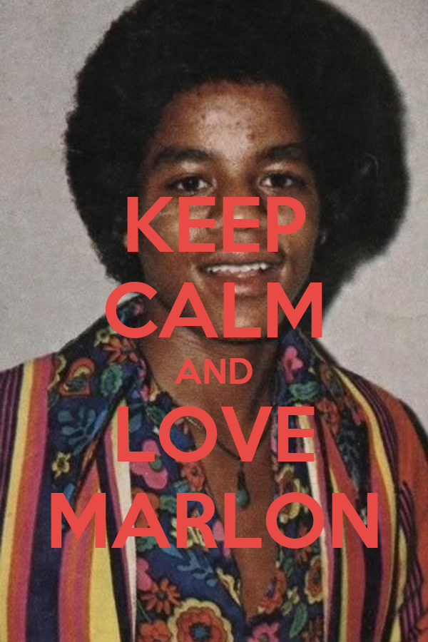 KEEP CALM AND LOVE MARLON