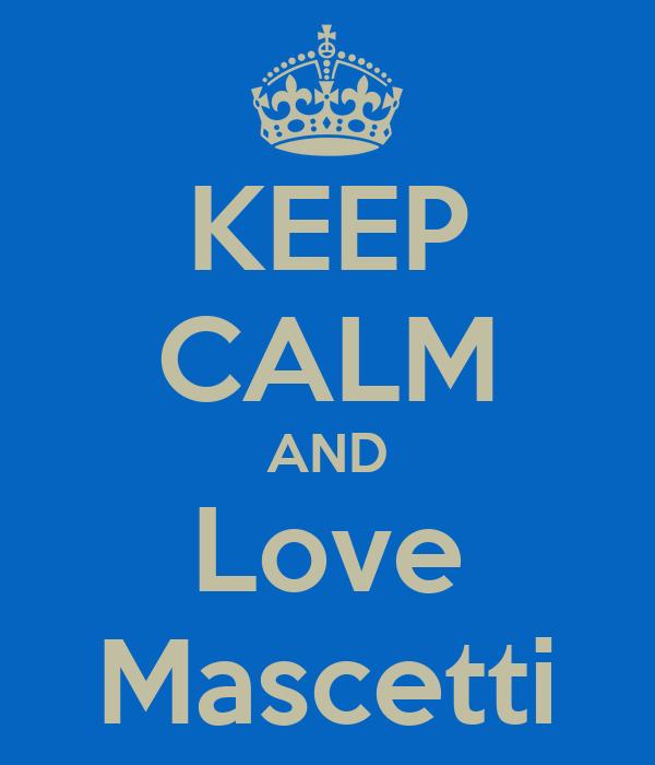 KEEP CALM AND Love Mascetti