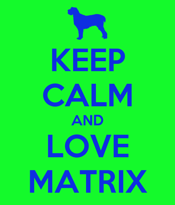 KEEP CALM AND LOVE MATRIX