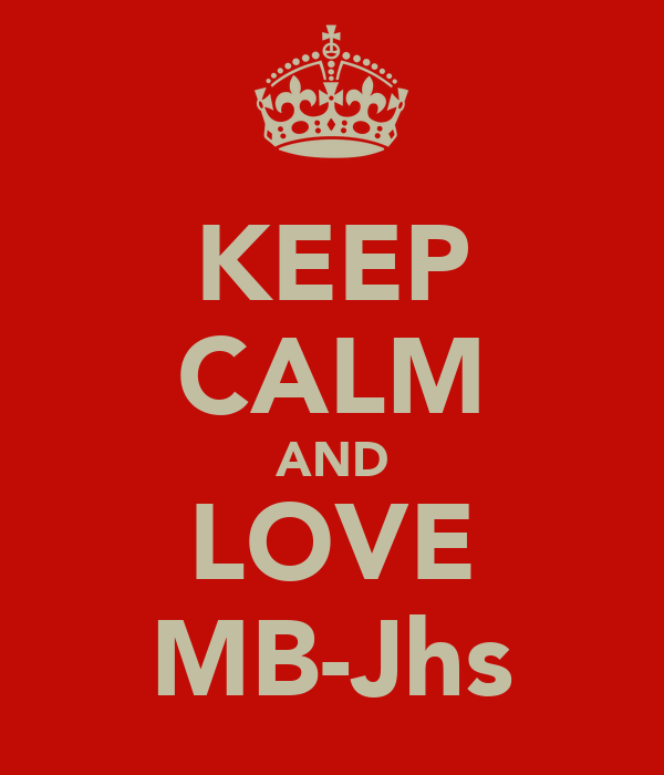 KEEP CALM AND LOVE MB-Jhs
