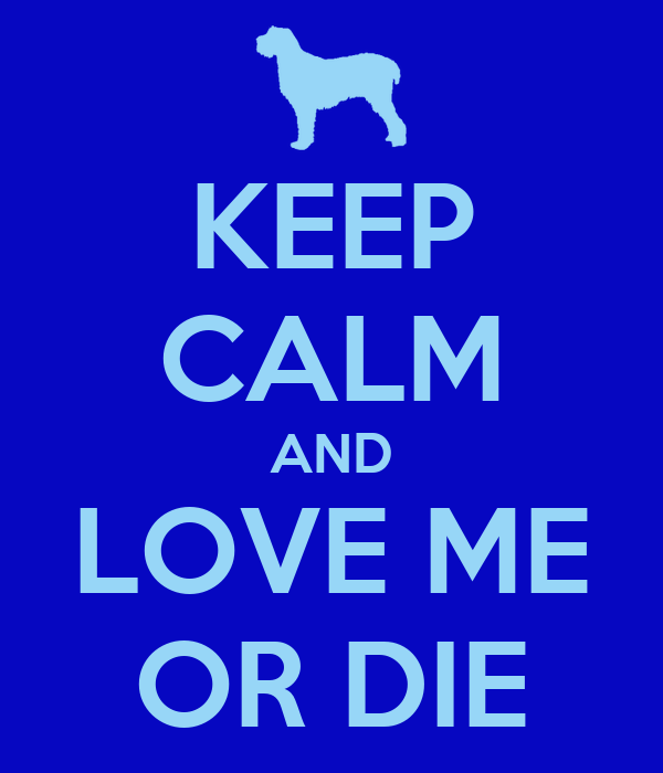 KEEP CALM AND LOVE ME OR DIE