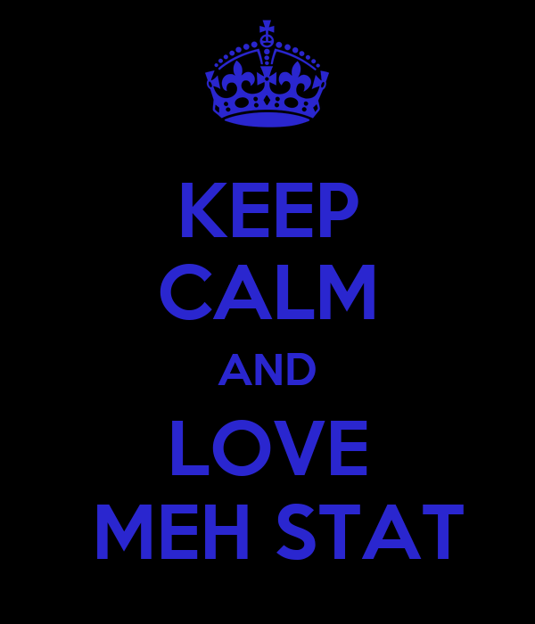 KEEP CALM AND LOVE  MEH STAT