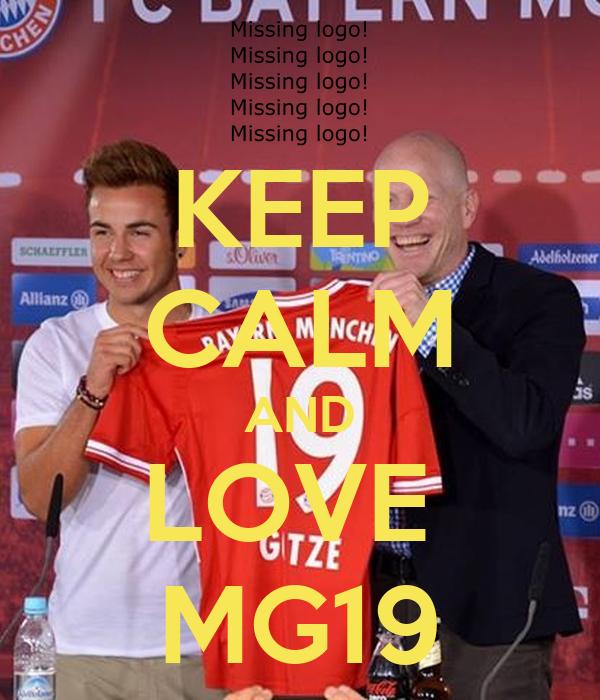 KEEP CALM AND LOVE  MG19