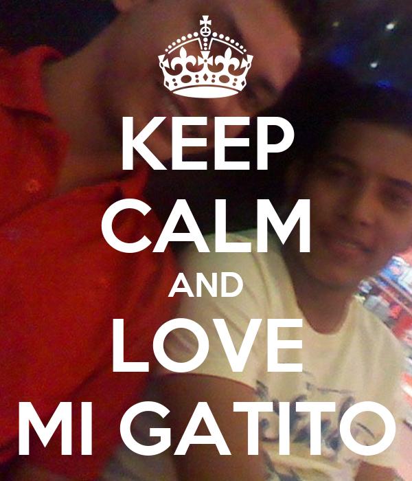 KEEP CALM AND LOVE MI GATITO
