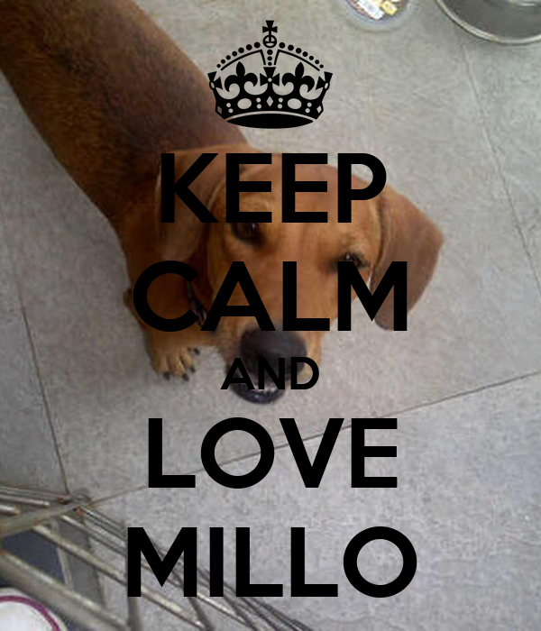 KEEP CALM AND LOVE MILLO