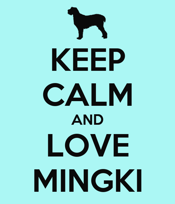 KEEP CALM AND LOVE MINGKI