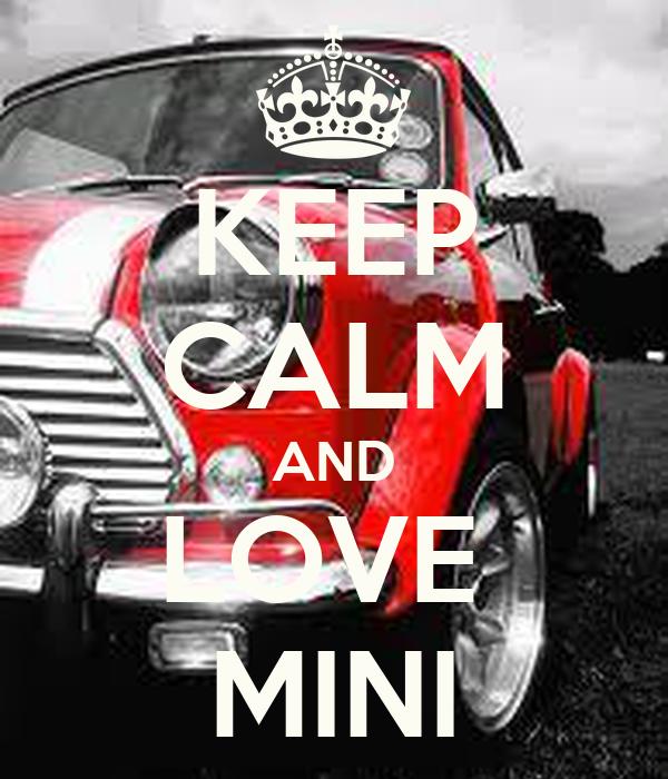KEEP CALM AND LOVE  MINI