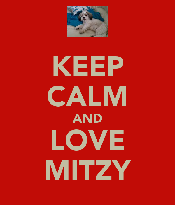 KEEP CALM AND LOVE MITZY