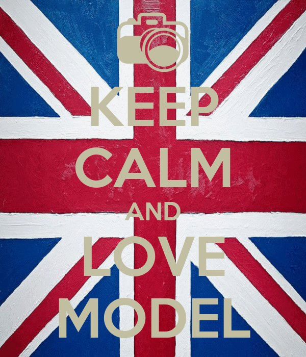 KEEP CALM AND LOVE MODEL