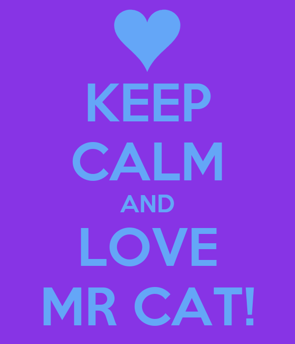 KEEP CALM AND LOVE MR CAT!