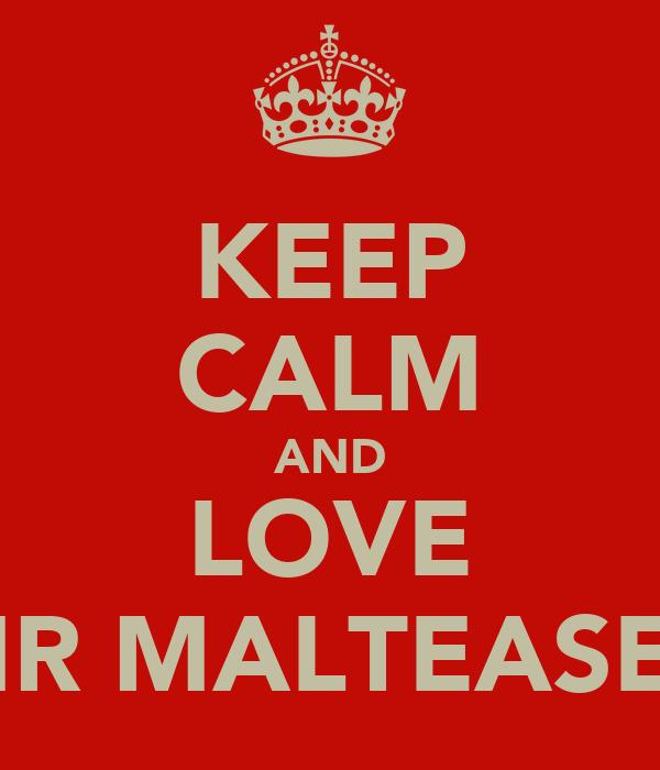 KEEP CALM AND LOVE MR MALTEASER